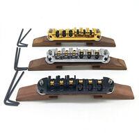 Sostituzione di parti di chitarra elettrica jazz con base regolabile a ponte in