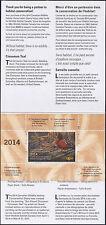 CANADA 2014 DUCK STAMP IN FOLDER  CINNAMON TEAL By Lori Boast