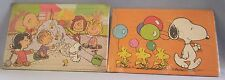 Snoopy Peanuts Jigsaw Puzzles 60pc & 15pc Chipboard from Japan Sandcastle NEW