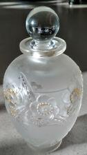 "SABINO Perfume Bottle Verrerie d'Art Sabino ""Fleurs"" French Made #'d"