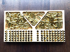 Large Size Bullet Reloading Tray. Timber CNC Machined. 100 Rounds + Case Tray
