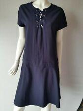 CACHAREL Paris Kleid dunkelblau Schnüren Gr.42--GB 14*NEU