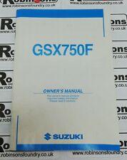 Suzuki Genuine GSX-R1000 K2 Owners Handbook Service Manual 99011-40F51-01A