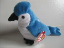 Ty Beanie Baby ROCKET the Blue Jay Bird DOB 1997 with 1998 Tag, Date Error