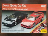 Testors Sports Car Kits Lamborghini Countach and Ferrari F40 Complete Kits