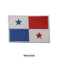 PANAMA National Flag Embroidered Patch Iron on Sew On Badge For Clothes etc