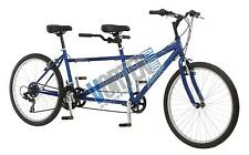 """new Pacific Dualie Tandem Bicycle with 26"""" Wheels, Blue, 16""""/One Size bike"""