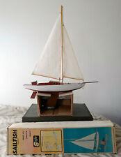 Vintage Sterling 1960's, model sailboat, pond yacht, pond boat