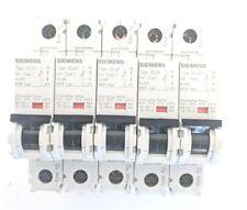 5 Siemens 5SJ41 Miniature Circuit Breaker Single Pole 240 VAC