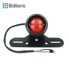 12V ROUND RED Motorcycle LED BRAKE TAIL LIGHT FOR BOBBER CHOPPER CAFE RACER ATV