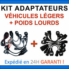 Lot de 16 Câbles compatible Delphi CDP+ DS150e VALISE DIAGNOSTIC AUTOCOM CAMIONS