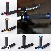 1 Pair Anti-Slip Double Lock-On MTB/BMX/Fixed Gear Bike Handlebar Grips+Plugs