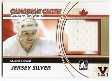 11/12 ITG CANADA vs WORLD FINAL VAULT CANADIAN CLOTH JERSEY Marcel Dionne 1/1
