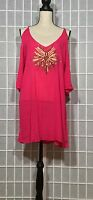 SPIAGGIA DOLCE CLUB Z COLLECTION NWT EMBELLISHED OFF THE SHOULDER COVER UP