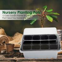 12 Cells Garden Planter Seedling Pot Nursery Plant Seed Gardening Nutrition Tray