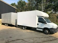 Iveco Luton with tail lift and large cube trailer