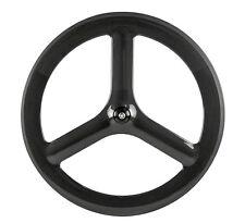 Fixed Gear 65mm Tri Spoke Carbon Wheels Single Speed Track 3 Spoke Front Wheel