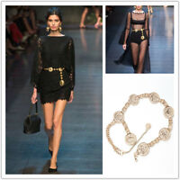Waistband Vintage Hot Chains Waist Vogue Metal Belt Wide Gold Tassel Band Ladies