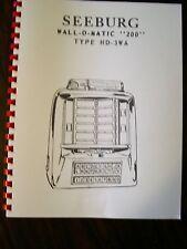 Seeburg Jukebox Model HD-3WA Wall Box  Manual