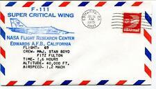 1975 F 111 Super Critical Wing Flight 69 Research Center Edwards Enevoldson NASA