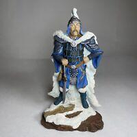 "Ice Sorcerer K010 Land of the Dragons 8"" Ceramic Figure Figurine RARE"
