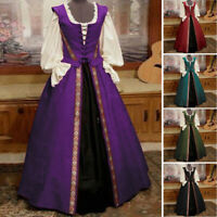 Halloween Lady Gothic Royal Witch Medieval Costume Victorian Renaissance Dresses