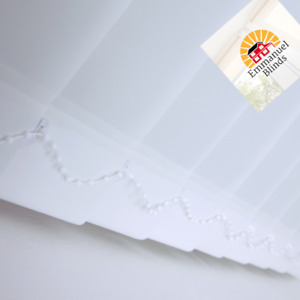 Vertical blinds non blackout brilliant plain white Made to Measure up to 400cm*