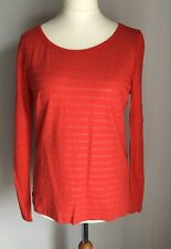 0d2237ee3b75 Petit Bateau French Design Ladies Red Sparkly Top Size M 12 100 Linen
