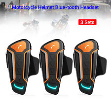 3 Sets 3PCS motorcycle Helmet Interphone BT3.0+EDR Intercom Music MP3 FM Radio