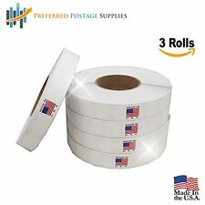 """White 1"""" Wafer Seals 30,000 Tabs Per Roll Save Big, Preferred Postage Supplies"""