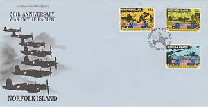 Norfolk Island 50th Anniversary War in the Pacific First Day Cover 1991