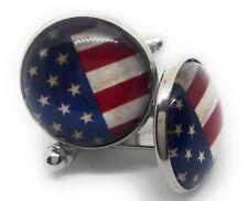 US AMERICAN FLAG CUFF LINKS 14876-C HO