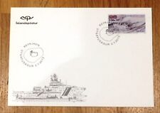 Iceland Post Official Illustrated FDC 2012.07.02. First Cod War - Overprint
