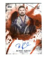 WWE Bobby Roode 2018 Topps Undisputed Orange On Card Autograph SN 81 of 99