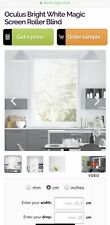 Roller Blind Magic Screen Oculus Bright White by Blinds2go X2