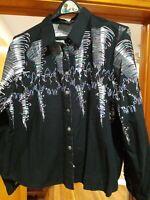 Brooks & Dunn Vtg 90's Western Tornado Shirt Black Womens XL 100% Cotton