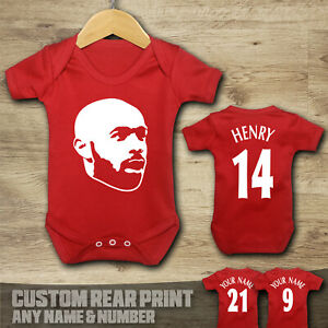 Arsenal - Thierry Henry 14 - Baby Vest Suit Grow