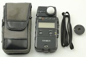 [EXC+++++] Minolta Auto Meter IV Flash Light Meter w/ Case & Strap from Japan