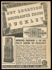 1942 Buckley jukebox zephyr speaker cabinet & tone tower photo vintage trade ad