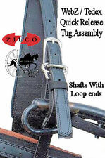 ZilcoTedex Horse Harness Quick Release Shaft Tugs Loops For Conversion