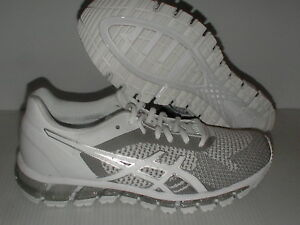 Asics women's running shoes gel quantum 360 knit white snow silver size 8.5 us