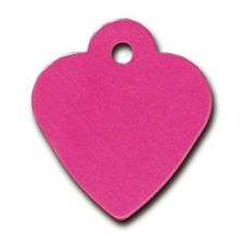 Small Pink Heart Custom Engraved Dog ID tag pet tag Name Tag Made in USA