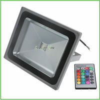 Outdoor IP65 Waterproof COB RGB Colour Changing LED Floodlight 10W 20W 30W 50W
