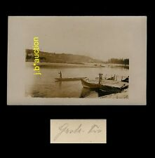 Italy LAKE GARDA MANUAL FERRY / LAGO DI GARDA BARCONE * Foto-AK um 1910