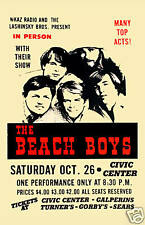 The Beach Boys at The Civic Center Poster 1968