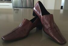 Luscious Rich Tan Leather GINO VENTORI Loafer Shoes Size 37