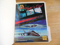 SEGA STRIKE FIGHTER    ARCADE   GAME  FLYER