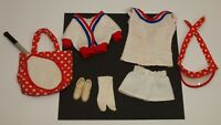 Vintage Barbie Get Ups & Go # 7842 TENNIS Outfit NEAR COMPLETE