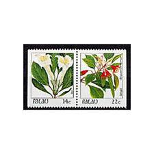 PALAU, Sc #132b, MNH, 1987, Booklet pair, Flowers, Flora, Plants, GIAW6