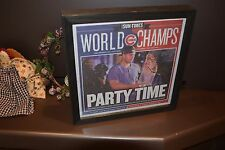 CHICAGO CUBS COMPLETE NEWSPAPER 2016 WORLD CHAMPS PARTY TIME FRAMED SUN TIMES